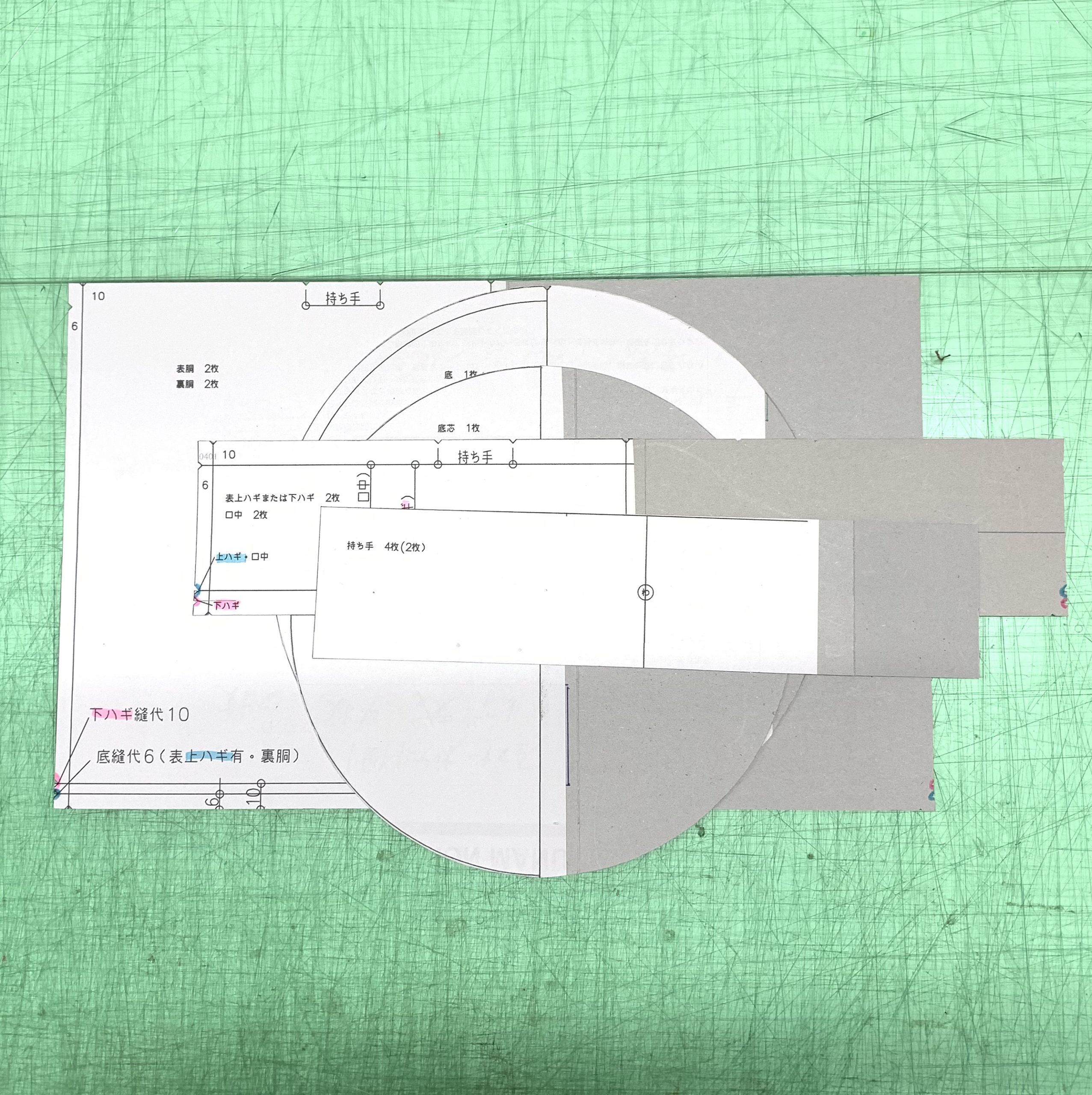 チケン紙(地券紙)を利用して型紙作成